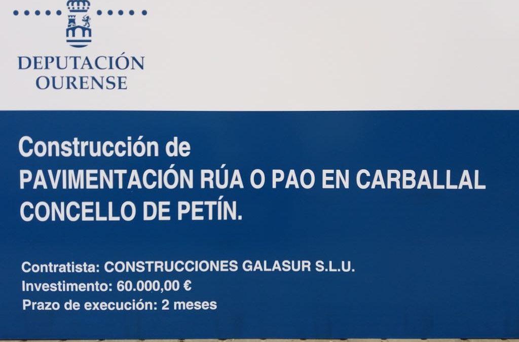 PAVIMENTACIÓN DE LA CALLE O PAO – CARBALLAL