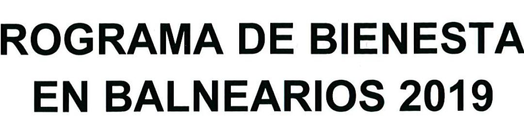 PROGRAMA DE BIENESTAR EN BALNEARIOS 2019