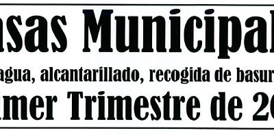 AVISO COBRO TASAS MUNICIPALES PRIMER TRIMESTRE DE 2019