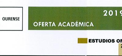 OFERTA ACADÉMICA UNED 2019/2020