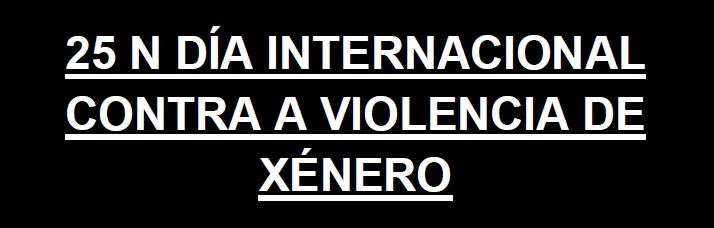CONCENTRACIÓN 25 N DÍA INTERNACIONAL CONTRA A VIOLENCIA DE XÉNERO