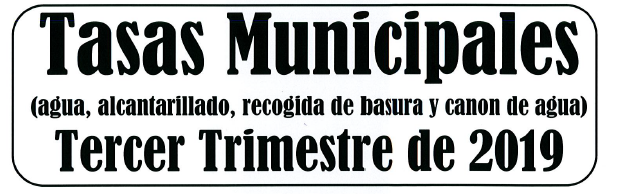 BANDO COBRO TASAS MUNICIPALES 3º TRIMESTRE DE 2019