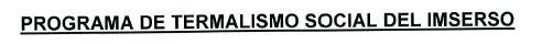 PROGRAMA DE TERMALISMO SOCIAL DEL IMSERSO