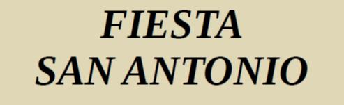 FIESTA SAN ANTONIO 2020